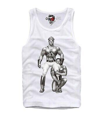 Tom of Finland Life Guard Tank Top White Sleeveless T-Shirt Menswear Vest