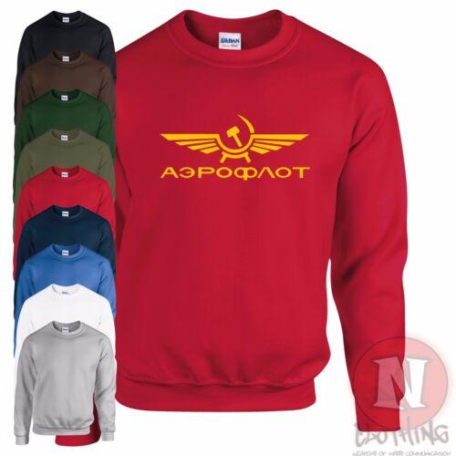 Aeroflot airline sweatshirt USSR retro communist iron curtain cold war