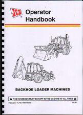 JCB 3CX und 4CX Heckbagger Lader Operator Handbook Manuelle
