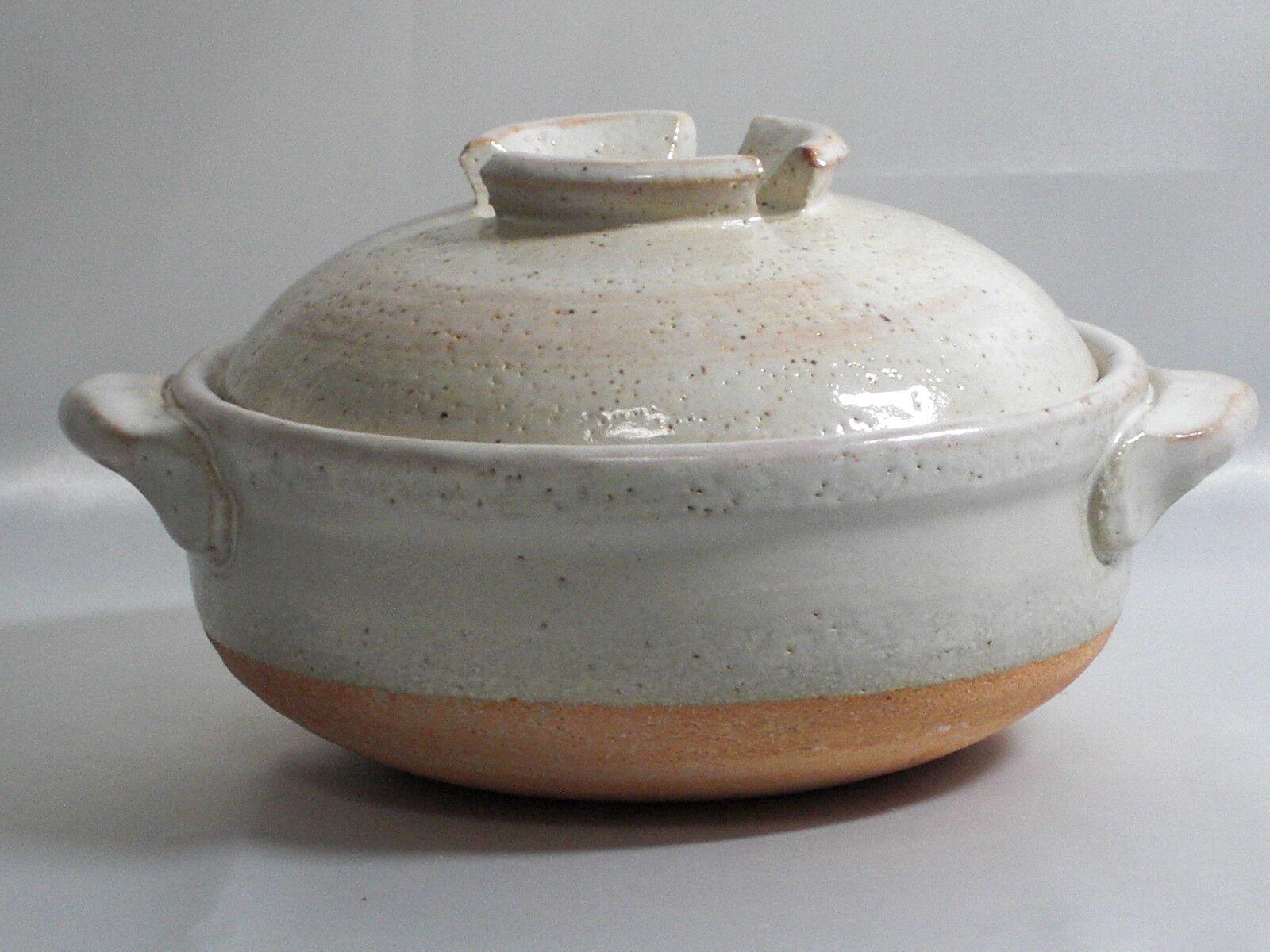 Donabe for 1 or 2 Persons d17cm Größe  Benishino    Shigaraki Stoneware Japanese