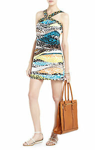 138-NWT-BCBG-Zotia-Printed-Women-039-s-Dress-Size-Large
