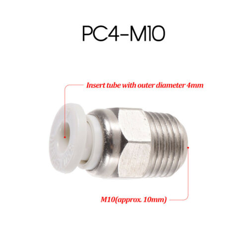 Creality 3D Male Straight Pneumatic Tube Push Fitting Connector for Ender-3 P6U0