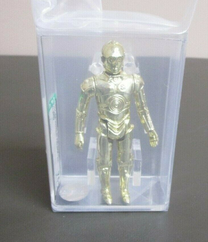 C-3PO 1977 STAR WARS Graded AFA AFA AFA 75+ EX+ NM HK Coo JJ nuovo Case  2 676ed3