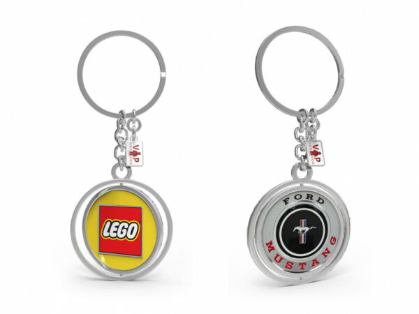 100% Vrai Lego * Vip * Ford Mustang Key Chain (10265) Neuf Et Non Ouvert Dernier Style