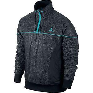 a1817bb58e3796 Air Jordan 5Lab3 Half Zip Men s Jacket Black Grey Blue 2XL