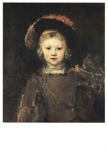 Rembrandt-PORTRAIT-of-the-ARTIST-039-S-SON-TITUS-POSTCARD-NEW-amp-PERFECT