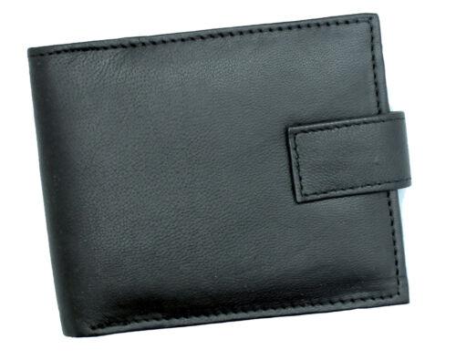 RFID Blocco Portafoglio con cerniera da uomo per Bifold Portamonete E FINESTRA ID 421 Nero