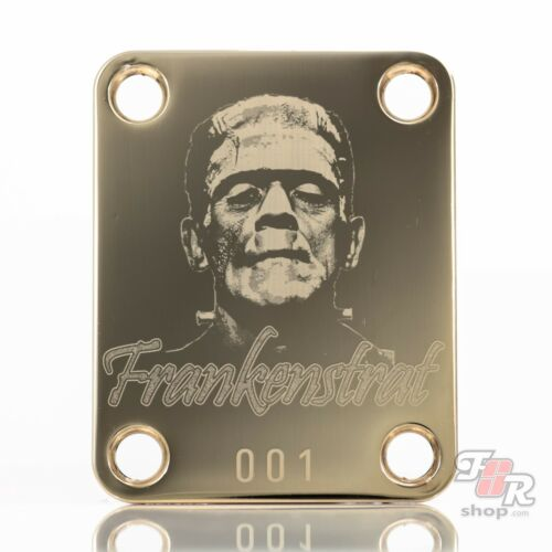 Engraved Guitar Neck Joint Heel Plate Standard 4 Bolt GOLD #2088