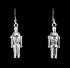 bdb25422e Image is loading 925-Sterling-Silver-Nutcracker-Earrings-Toy-Soldier-Dangle-