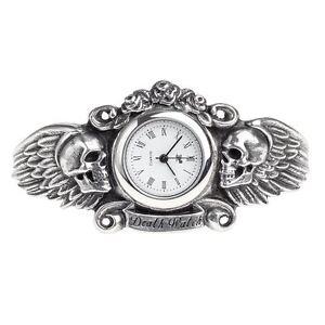 Alchemy-Gothic-Heart-Of-Lazarus-Winged-Skull-Death-Pewter-Bracelet-Watch