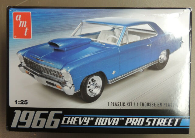 1966 CHEVROLET PRO STREET NOVA AMT 1:25 SCALE PLASTIC MODEL CAR KIT