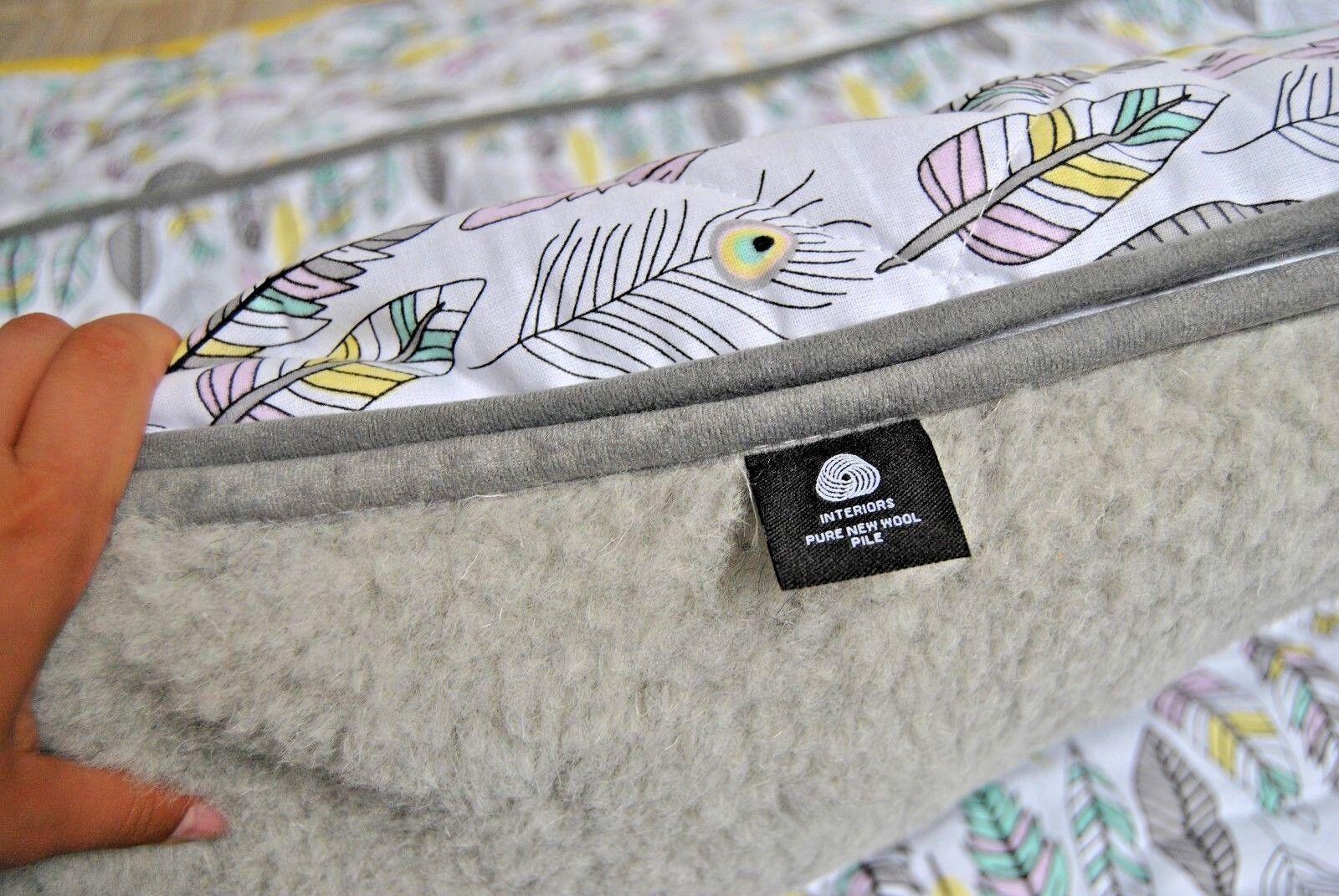 Merino Wool Junior Einzelbett Bettwäsche Decke 120 x 150 + Kissen 40 x 60 Federn