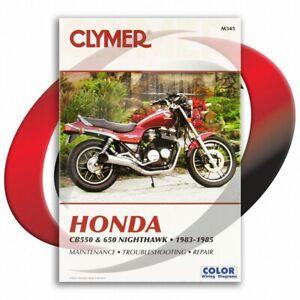 1983-1985-Honda-CB650SC-Repair-Manual-Clymer-M345-Service-Shop-Garage