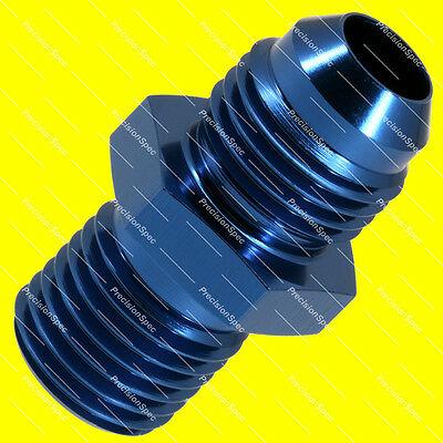 AN6 6AN JIC Male Flare to M14x1.5 Metric Fitting Adapter Blue W/ 1Yr Warranty