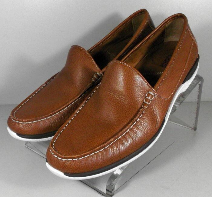 252932 MS50 Men's shoes Size 9 M  Tan Leather Slip On Johnston & Murphy