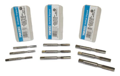 M12 Presto HSS Machine//Hand Taps Sets of 3 Taper Second /& Plug M3
