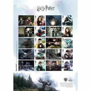 Great-Britain-2018-Harry-Potter-op-postzegels-speciaal-vel-voorverkoop-POSTFRIS