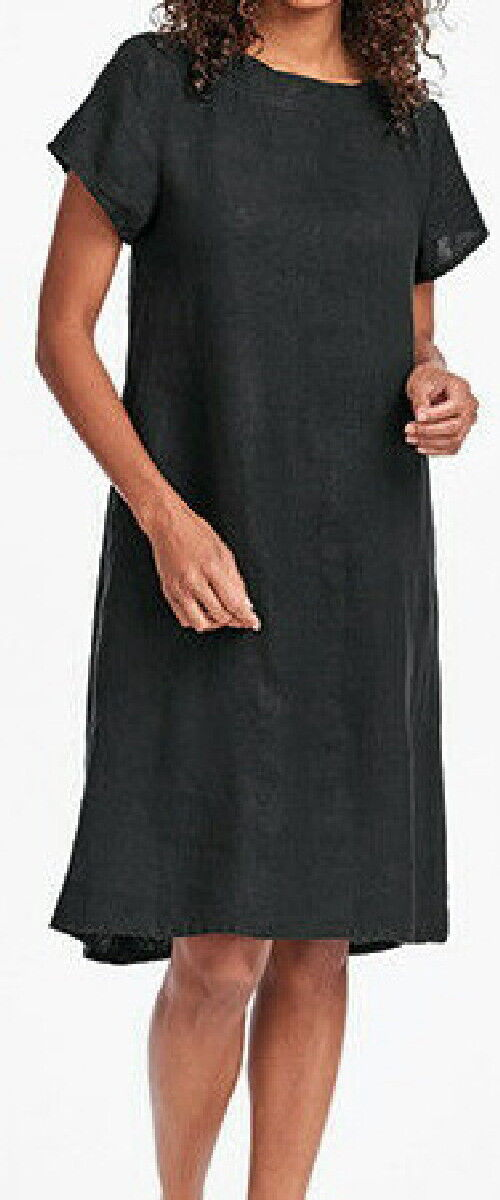 FLAX Designs   Linen  Dress  1G  &  2G     NWT  Truly Dreamy Dress BLK