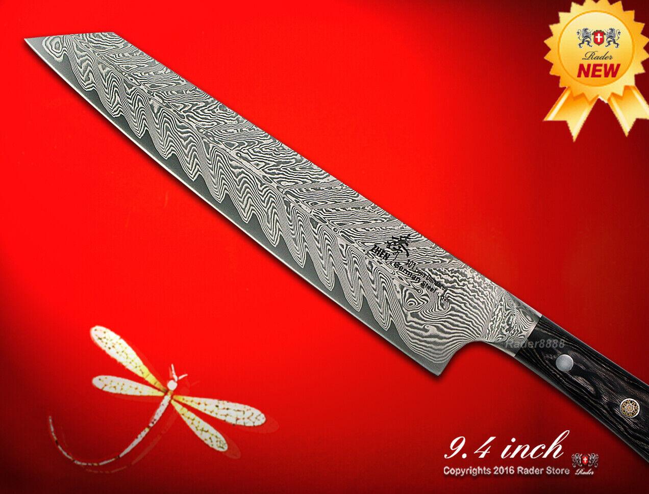 Handcraft Damascus 101 Layers Chef's Knife Kiritsuke 9.4  Full-Tang Wood Handle