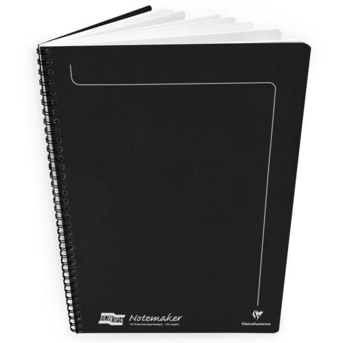 A4-90gsm Black 2 x Clairefontaine Europa Notemaker Notebook 120 Pages