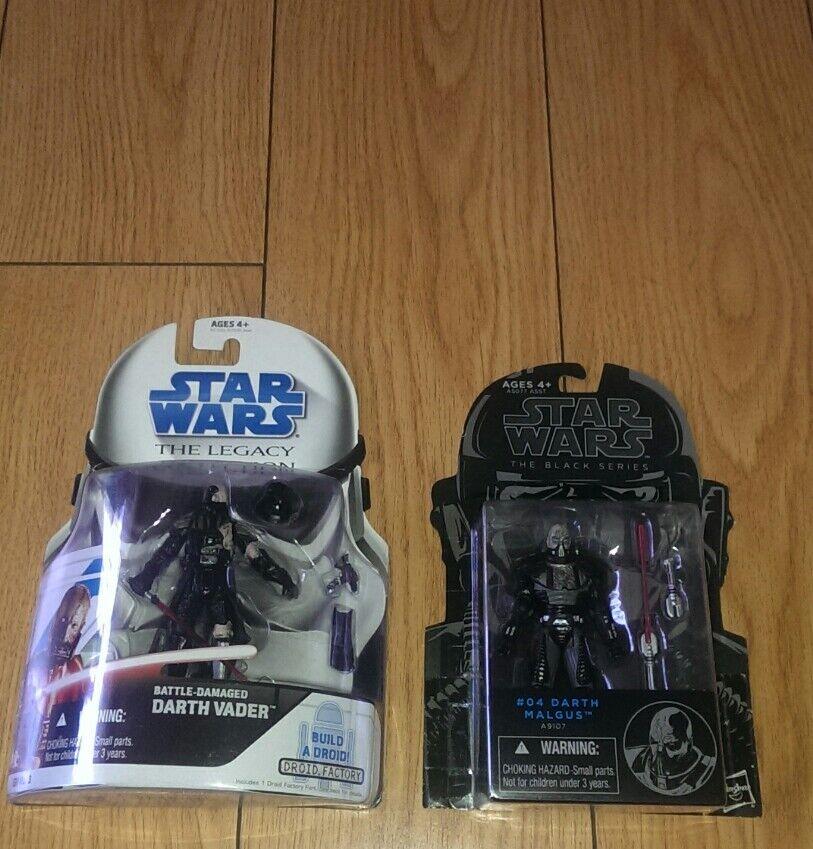 Guerra DE LAS GALAXIAS la serie negra-Darth Malgus.. figuras Battle Damaged Darth Vader..