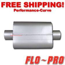 """2 Chamber Performance Exhaust Street Muffler FLO-PRO Super V - 3"""" C/C - V43040"""