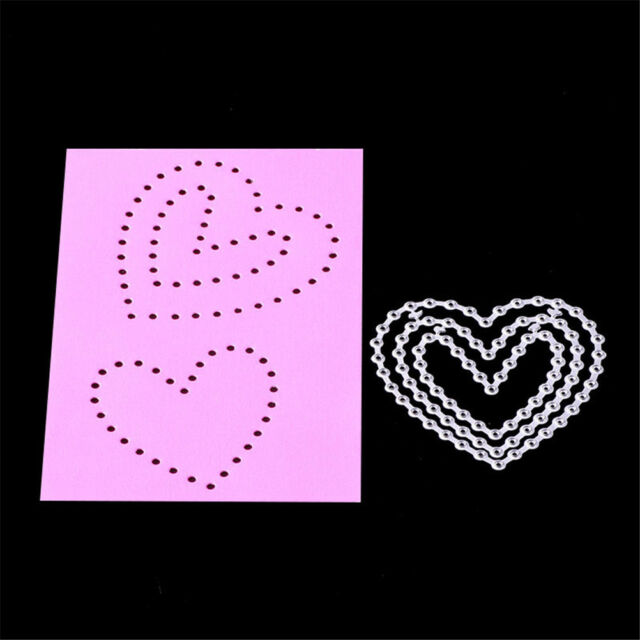 Lovely Heart Framed Metal Cutting Dies Stencil Scrapbook Paper Cards Craft RS