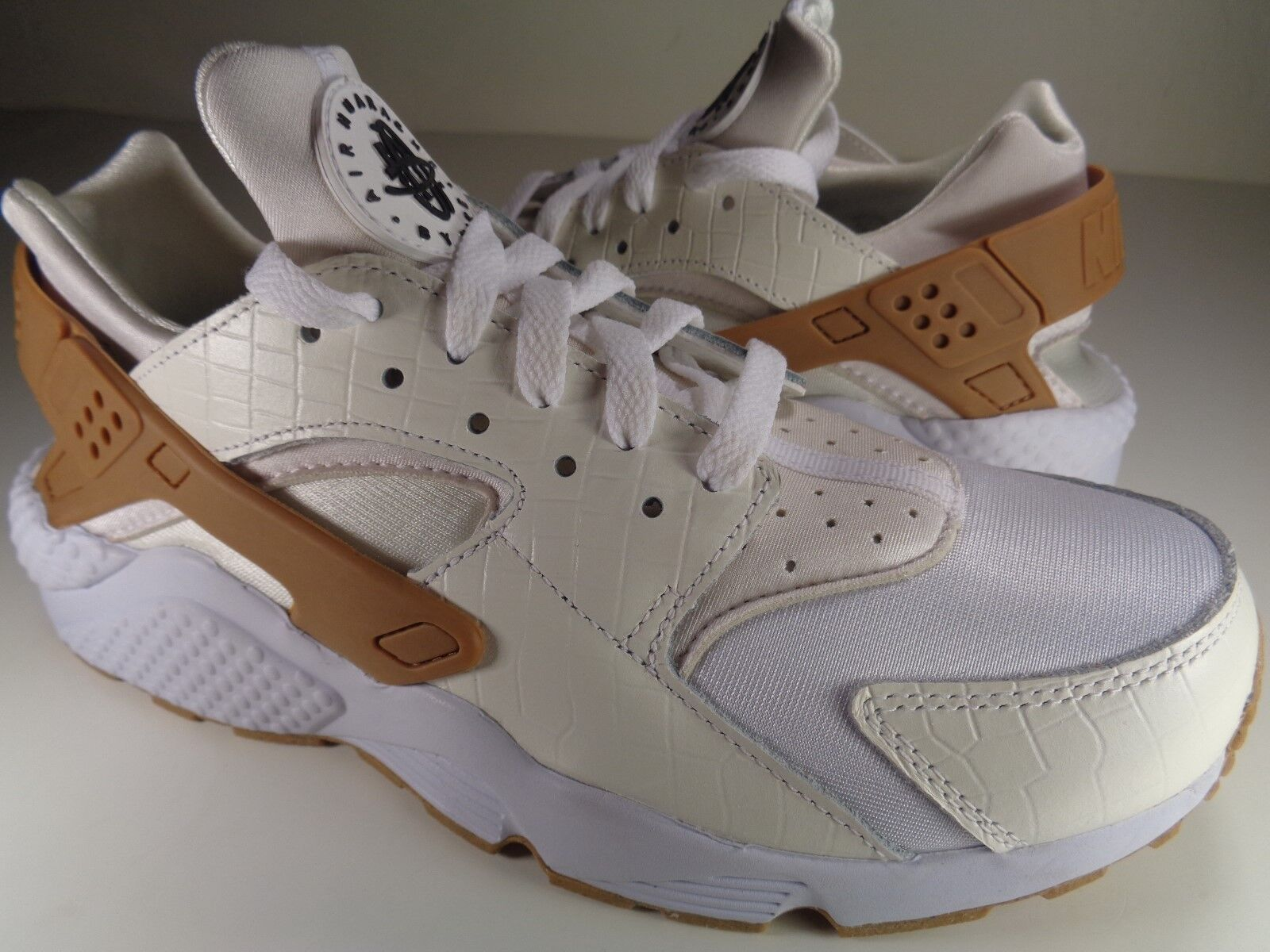 femmes Nike Air Huarache Run iD Brown 9 Noir blanc Croc SZ 9 Brown (777331-997) 4a3ddb