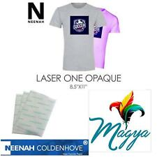 Laser Iron On Heat Transfer Paper For Darks 20 Sh Neenah Laser 1 Opaque