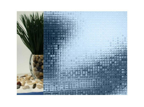 Blau Mini Mosaic Cut Glass Static Cling Window Film, 35  Wide x 6.5 ft