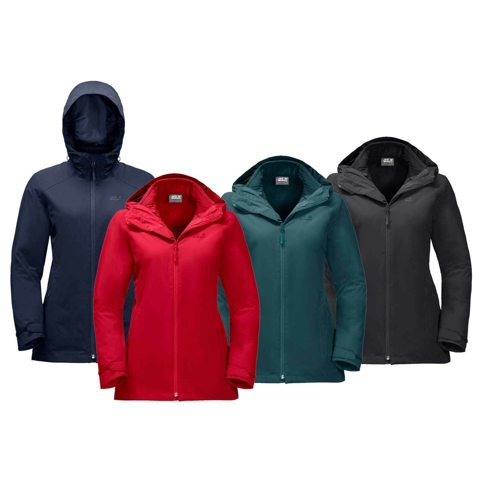 JACK Wolfskin Donna Norrle 3 in 1 Giacca RRP £160