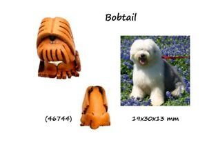 Llavero-Piel-Autentica-Cuero-Hombre-Mujer-Razas-Perros-Bobtail