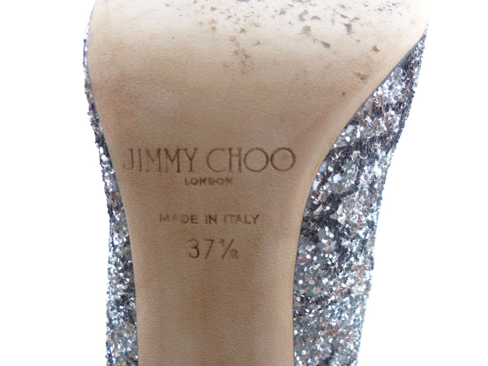 Jimmy Choo 'Anouk' Silber Ballet Rosa Rosa Rosa Coarse Glitter f07fc2