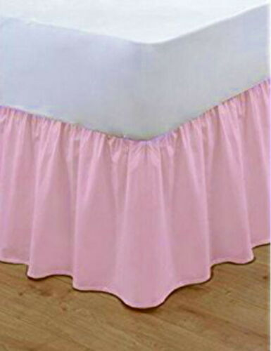 Poly Cotton Base Valance Frilled Plain Bed Sheets Bed Linen All Sizes