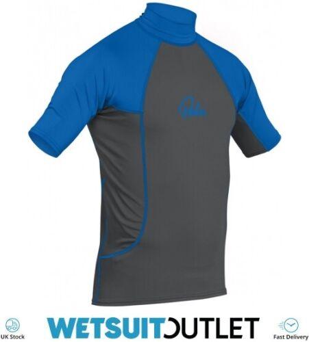 Palm Kayak Kayaking Short Sleeve Rash Vest Top Jet Grey Blue Surfing Shirt UV
