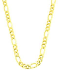 Huebsche-Figaro-Kette-585-Gold-14-Kt-Gelbgold-Neu-55-cm-Halskette