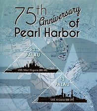 Palau 2016 MNH WWII WW2 Pearl Harbor Attack 75th Anniv 2v S/S Ships Stamps
