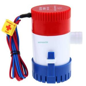 750 GPH 12V Electric Submersible Fish Marine Boat Yacht Bilge Silent Water Pump