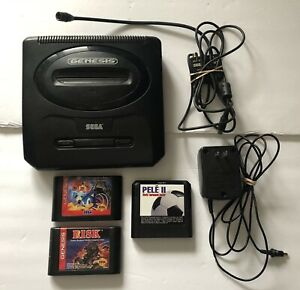 Sega-Genesis-Model-2-Console-Bundle-MK-1631-w-3-Games-NO-CONTROLLER