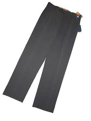 Tommy Bahama St Thomas-Black Double Pleated 100/% Silk Pants $125