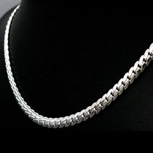 ASAMO-Herren-Halskette-Panzerkette-925-Sterling-Silber-plattiert-Kette-HA1130