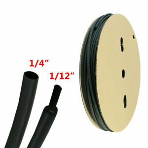 """Black Heat Shrink Tubing 3:1 Electrical Insulation Flame-retarded 5 ft x 1//4/"""""""
