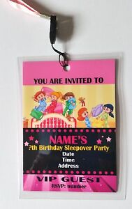 Other Celebrations & Occasions Celebrations & Occasions Personalised VIP Pass Lanyard for Sleepover Slumber Birthday Party Invite
