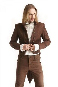 Men-039-s-New-STEAMPUNK-GOTHIC-Tail-Coat-JACKET-Victorian