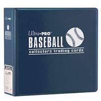 1 Ultra Pro 3 Blue Baseball Card Collector Storage D-ring Album Binder