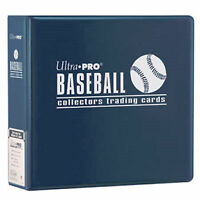 1 Ultra Pro 3 Blue Baseball Card Collector Storage D-ring Album Binder