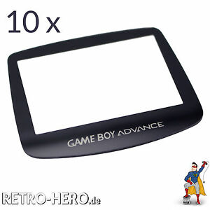 10x Game Boy Advance Display Scheibe LCD screen GBA Austausch gameboy