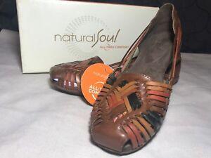 c9f2066176bd Image is loading Natural-Soul-by-Naturalizer-Grandeur-Multi-Brown-Leather-