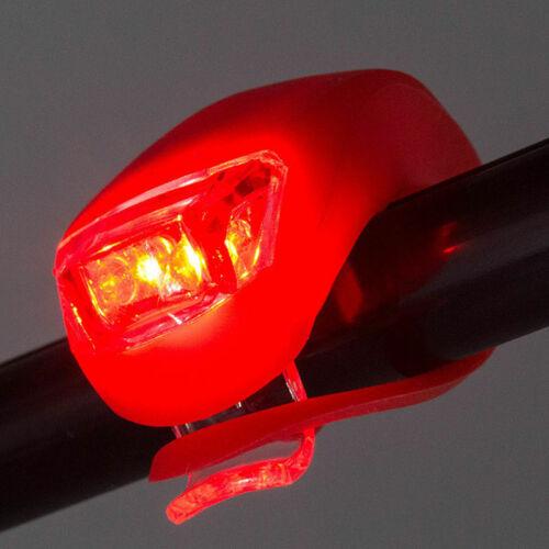 5 LED Lamp Bike Bicycle Front Head Light Rear Safety Flashlight Waterproof Set *