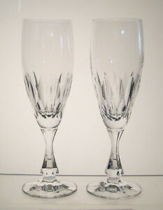 VOLTERRA-SCHOTT-ZWIESEL-Champagne-Flutes-7-3-4-034-SET-of-TWO-Imperfect